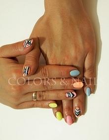 manicure hybrydowy aztecki ...