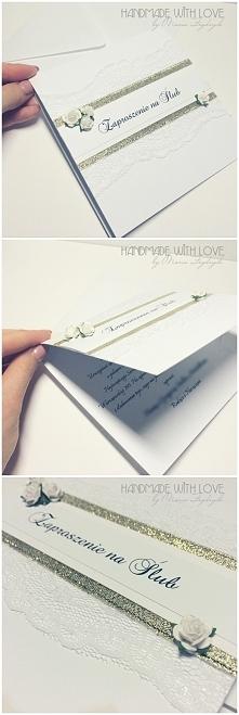 zaproszenia slubne, wiecej na handmade with love by Maria Frydrych na facebooku