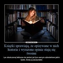 Będę czytać więcej książek....