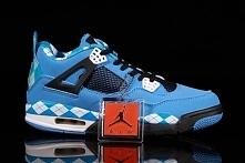 Mens Nike Air Jordan Retro 4 2014 New Iv Shoes Free Blue