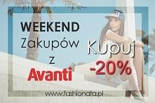 Weekend zniżek, rabat 20% :) Szczegóły na fashionata.pl