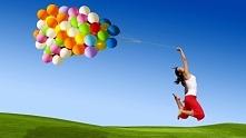 balony kobieta szczęście