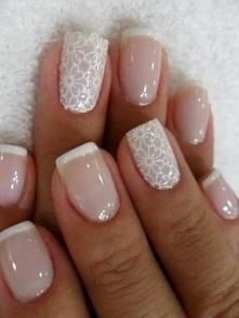 Piękny manicure, idealny do ślubu!