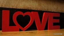 napis z litego drewna:) rękodzieło:)