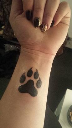 Tatuaż łapka Na Pomysły Zszywkapl