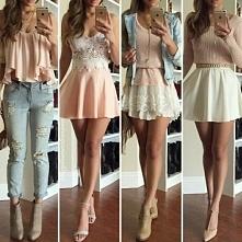 Cztery dziewczęce stylizacje♥