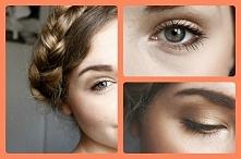 Rozświetlony makijaż w złocie i warkocz Milkmaid Braid.  Tutorial na kanale Y...