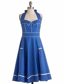 Blue Polka Dot Audrey Hepbu...