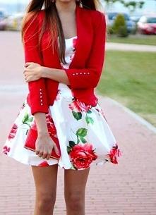letnia sukienka w róże