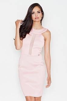 Ekskluzywna piankowa sukienka z transparentną wstawką. Znajdziesz na --> f...