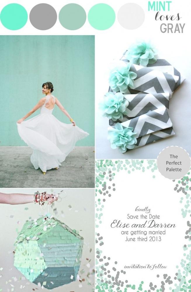 wesele - paleta kolorów