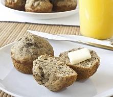 DIETETYCZNE MUFFINKI Jaglane muffinki z suszoną żurawiną (przepis na ok. 8 du...
