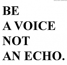 Be a voice
