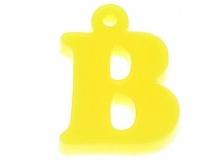Decoupage Pleksi Literka B Żółty