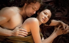 Caitriona Balfe and Sam Heughan as Claire and Jamie