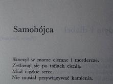 """""""Samobójca"""" Maria Pawlikowska-Jasnorzewska"""