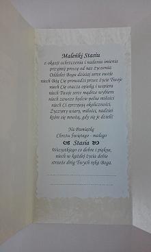Pamiątka Chrztu Świętego - kartka w pudełeczku z cukrowym dzidziusiem... życz...
