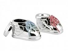 Zestaw pudełek na pierwszy ząbek i kosmyk Zilverstad Shoes - Dwa posrebrzane ...