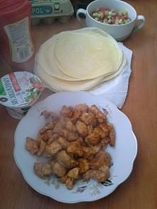 Przepis 2 : Tortilla z kurczakiem  ZAPRASZAM NA BLOGA