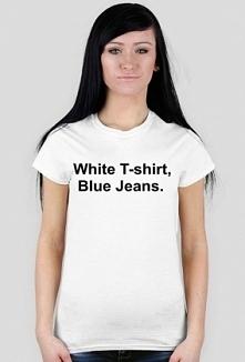 Koszulka White tshirt blue jeans hellopassion.cupsell.pl