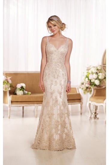Essense of Australia Open Back Wedding Dresses Style D1786