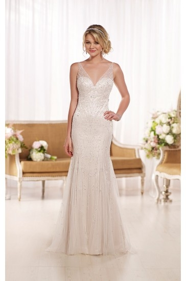 Essense of Australia Beaded Wedding Dresses Style D1762