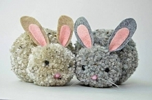 króliki z pomponów
