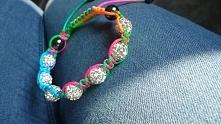 Shamballa colorfull bracele...