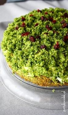 Leśny mech - ciasto