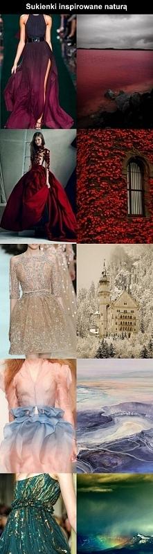 Sukienki inspirowane naturą.