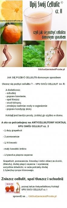 Skuteczny sposób na cellulit-Antycellulitowy koktajl nr 2. Pozbądź się cellul...