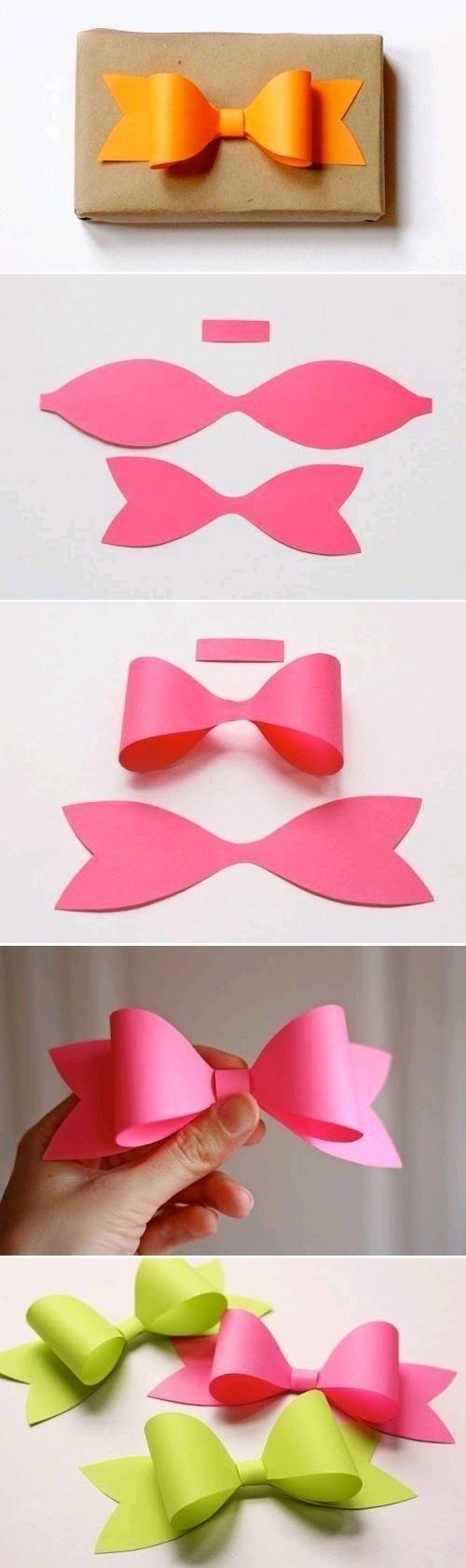 Pomysł na to, jak prosto zrobić piękną kokardkę z papieru! <3