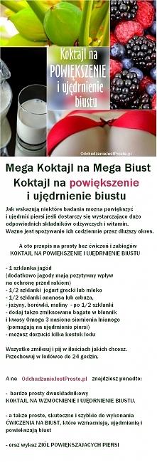 Mega Koktajl na Mega Biust bez zabiegów i bez ćwiczeń, czyli robiący furorę n...