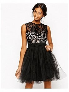 -41% Little Mistress Babydoll Prom Dress With Baroque Effect Bodice