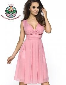 elegancka różowa sukienka