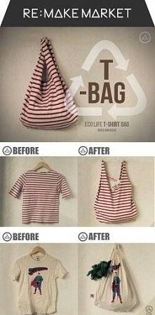 recyklingowa bluzko-torba :P