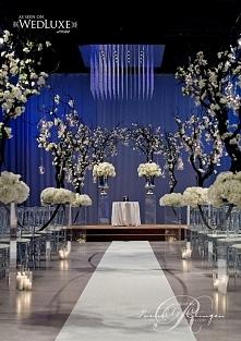 Piękna dekoracja ślubna. Po...