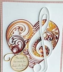 serce i klucz wiolinowy