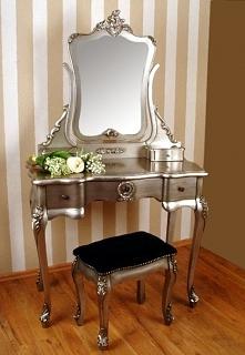 Srebrna Toaletka w Stylu Rokoko - ArtDecor24