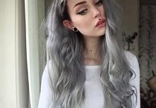 black/silver hair