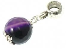 Zawieszka Beads z Kamienia Agat Królewski Fiolet