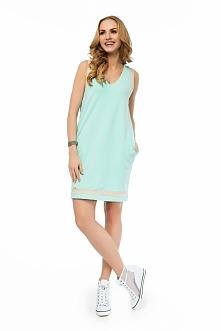 Dwukolorowa letnia sukienka, sportowo i elegancko. Znajdziesz na--> fashio...