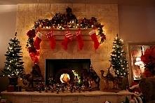 świąteczny kominek