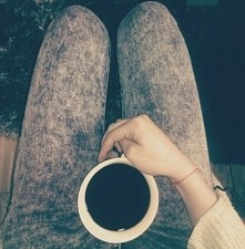 Moje pół litra czarnej, gorzkiej kawy... <3
