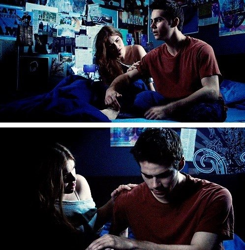 The significance of Lydia being in the dream, is it basically because she's in his heart? Oh well, yes. That's absolutely why she's there. I thought that was really clever. That would totally be one of Stiles' dreams. You know, people who you hold in your heart, in your mind and soul. I'm sure Stiles dreams about Lydia like every night, you know? It's just a common thing. - Dylan O'Brien