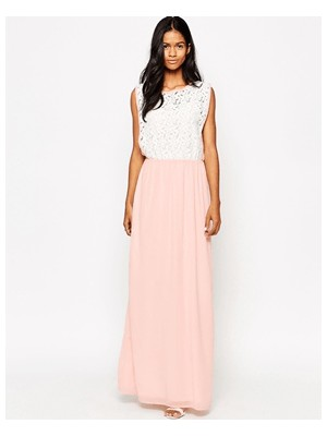 -49% Club L Maxi Dress With Lace Overlay Detail