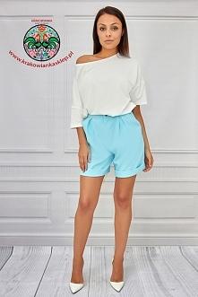 eleganckie niebieskie szorty + bluzka, zapraszamy!