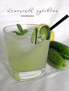 Lemoniada ogórkowa z miętą i cytryną