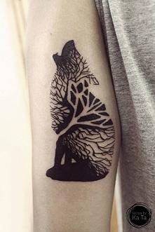 Śliczny i mroczny tatuaż <3