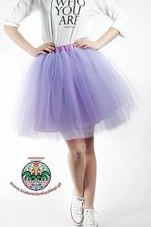 tiulowa fioletowa spódnica